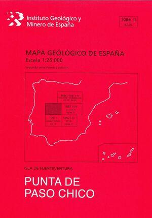 PUNTA DE PASO CHICO. FUERTEVENTURA -MAPA GEOLOGICO ESPAÑA 1086-II