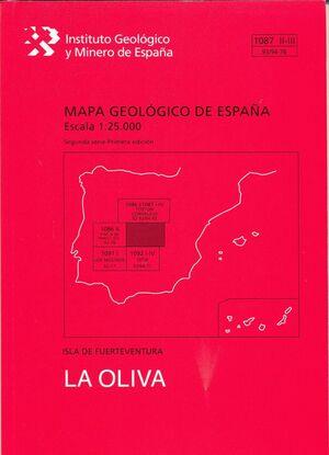 OLIVA, LA. FUERTEVENTURA -MAPA GEOLOGICO ESPAÑA 1087 II-III/93-94