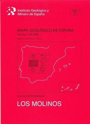 MOLINOS, LOS. FUERTEVENTURA -MAPA GEOLOGICO ESPAÑA 1091-1/ 92-77
