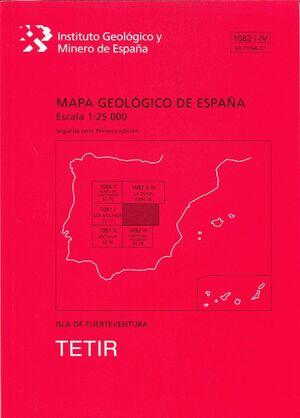 TETIR. FUERTEVENTURA -MAPA GEOLOGICO ESPAÑA 1082 I-IV/93-77/94-77