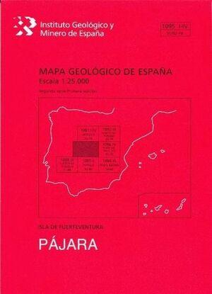 PAJARA.FUERTEVENTURA.MAPA GEOLOGICO ESPAÑA 1095 I-IV. 91/92-79