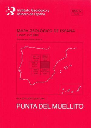 PUNTA DEL MUELLITO. FUERTEVENTURA -MAPA GEOLOGICO ESPAÑA 1096 IV