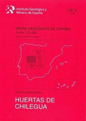 HUERTAS DE CHILEGUA. FUERTEVENTURA -MAPA GEOLOGICO ESPAÑA 1095 ..