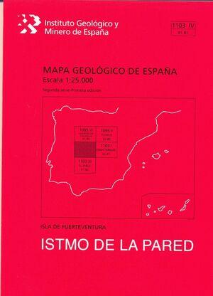 ISTMO DE LA PARED. FUERTEVENTURA -MAPA GEOLOGICO ESPAÑA 1103 IV..