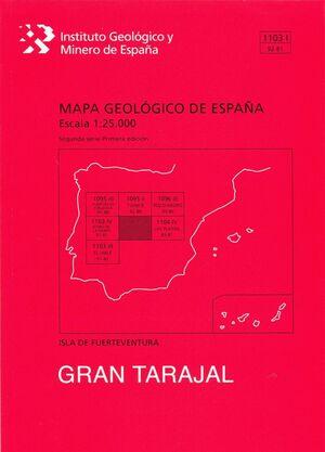GRAN TARAJAL. FUERTEVENTURA -MAPA GEOLOGICO ESPAÑA 1103 I/ 92-81