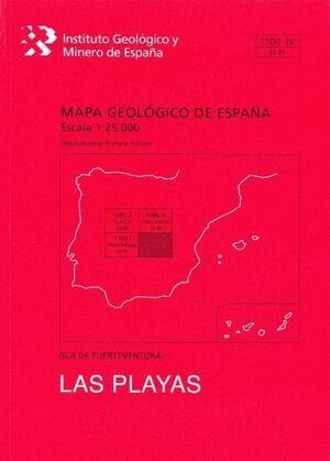 LAS PLAYAS.FUERTEVENTURA -MAPA GEOLOGICO ESPAÑA 1104-IV/93-81