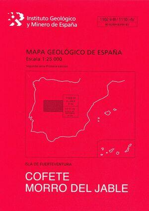 COFETE MORRO DEL JABLE. FUERTEVENTURA -MAPA GEOLOGICO ESPAÑA