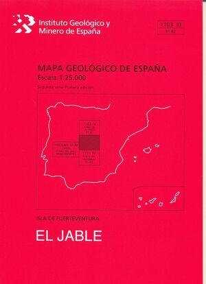 JABLE, EL. FUERTEVENTURA -MAPA GEOLOGICO ESPAÑA 1103 III/ 91-82