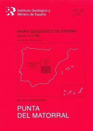 PUNTA DEL MATORRAL. FUERTEVENTURA -MAPA GEOLOGICO ESPAÑA 1111-IV
