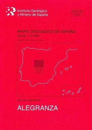 ISLOTE ALEGRANZA.LANZAROTE. 1079-I-IV/95/96-67 MAPA GEOLOGICO ESPAÑA