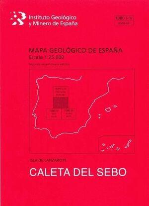 CALETA DEL SEBO. LANZAROTE -MAPA GEOLOGICO ESPAÑA 1080-I-IV/95/96