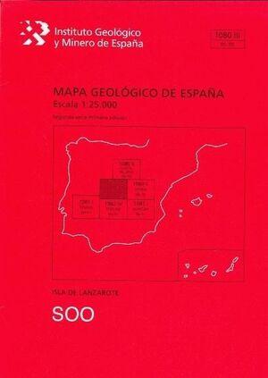 *** SOO. LANZAROTE -MAPA GEOLOGICO ESPAÑA 1080-III/95-70