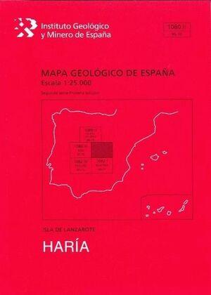 HARIA. LANZAROTE -MAPA GEOLOGICO ESPAÑA 1080-II/96-70