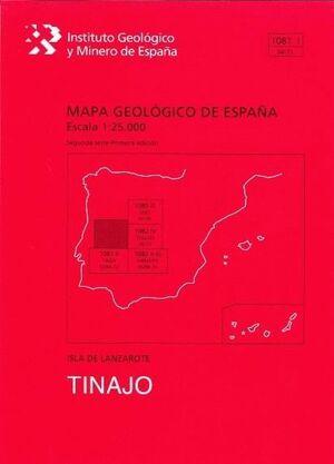 TINAJO. LANZAROTE -MAPA GEOLOGICO ESPAÑA 1081 I/ 94-71
