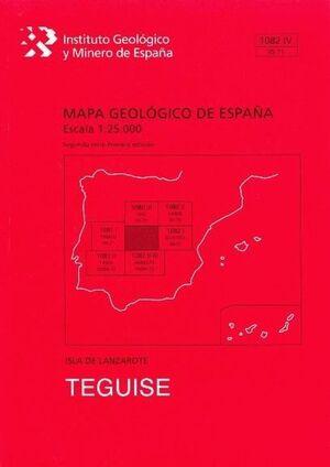 TEGUISE. LANZAROTE -MAPA GEOLOGICO ESPAÑA 1082 IV/ 95-71