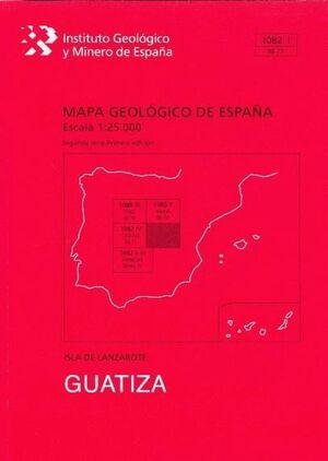 GUATIZA. LANZAROTE MAPA GEOLOGICO ESPAÑA 1082-1/96-71