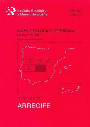 ARRECIFE. LANZAROTE MAPA GEOLOGICO DE ESPAÑA 1082 II-IV/95/96-72