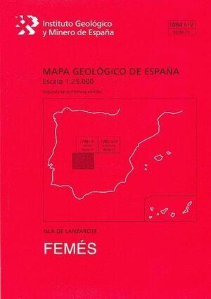 FEMES. LANZAROTE MAPA GEOLOGICO ESPAÑA 1081 I-IV/93/94-73