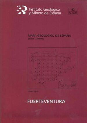 ISLA DE FUERTEVENTURA.MAPA GEOLOGICO. 92/ 12-10/11 E 1:100.000