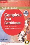 011 COMPLETE FIRST CERTIFICATE STUDENT'S BOOK WITHOUT ANSWERS