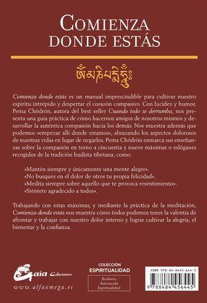 COMIENZA DONDE ESTAS. GUIA PARA VIVIR COMPASIVAMENTE