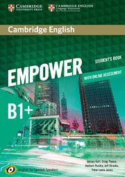 017 CAMBRIDGE ENGLISH EMPOWER FOR SPANISH SPEAKERS B1+ STUDENT'S BOOK WITH ONLINE AS