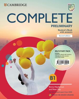 019 COMPLETE PRELIMINARY SELF PACK STUDENTS WORKBOOK WITH KEY AND FULL CLASS AUDIO (