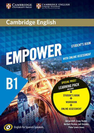 016 EMPOWER FOR SPANISH SPEAKERS B1 - PACK STUDENT'S+WORKBOOK (WITH ONLINE ASS)