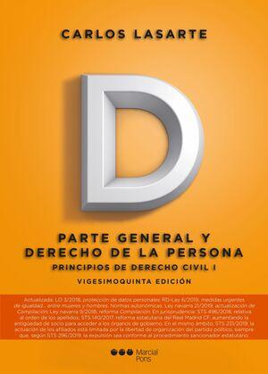 019 T1 PRINCIPIOS DERECHO CIVIL: PARTE GENERAL Y DERECHO PERSONA