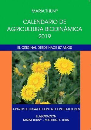 019 CALENDARIO AGRICULTURA BIODINAMICA 2019