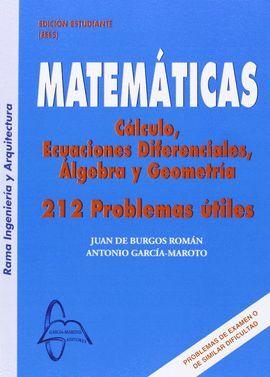 MATEMATICAS. CALCULO,ECUACIONES DIFERENCIALES,ALGEBRA Y GEOMETRIA