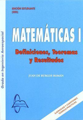 VOL1 MATEMATICAS. DEFINICIONES, TEOREMAS Y RESULTADOS