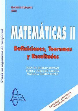 VOL2 MATEMATICAS. DEFINICIONES, TEOREMAS Y RESULTADOS