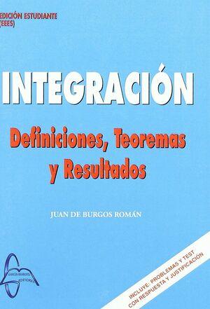 INTEGRACION. DEFINICIONES, TEOREMAS Y RESULTADOS