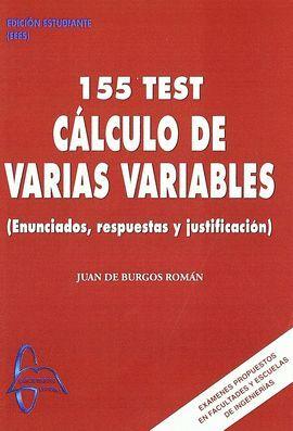 155 TEST CALCULO DE VARIAS VARIABLES (ENUNCIADOS,RESPUESTAS Y ...