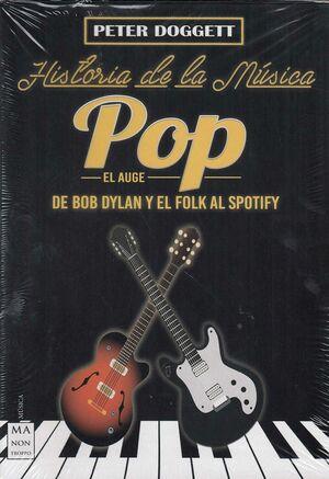 ESTUCHE HISTORIA DE LA MUSICA POP. DE BOB DYLAN Y EL FOLK AL SPOFITY